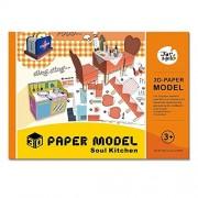 Jar Melo 3D Paper Models; Folded Paper Kit; Paper Craft; Assembly Paper; Soul Kitchen; Handmade;