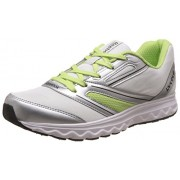 Reebok Women's Explore Run White, Silver and Green Running Shoes - 6 UK