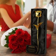 MikaMax 24krt Gouden Roos - Zwarte doos