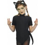 Set de pisica negru pentru copii