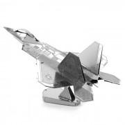 Bricolaje 3D Puzzle montado modelo de aviones de combate juguete educativo - plata