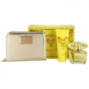 Versace Yellow Diamond coffret VII. Eau de Toilette 90 ml + leite corporal 100 ml + carteira 18 × 3 × 14 cm