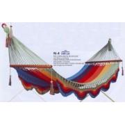 N4 Hamaca red tupida ancha multicolor