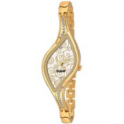 Espoir Analog Stainless Steel Golden Dial Girl's and Women's Watch - 9710Gold