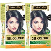 Indus valley Organically Natural Permanent Gel Black 1.00 Hair Color (Twin Pack)