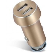 Forever Car Charger 2xUSB 3,1A - Guld
