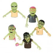 Accoutrements Set of 5 Glow in the Dark Zombie Finger Puppets Halloween Zombies