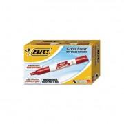 Great Erase Grip Chisel Tip Dry Erase Marker, Red, Dozen