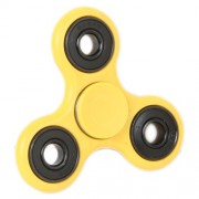 Fidget Spinner Tri-Spinner Anti-Anxiety 360 Spinner Helps Focusing Fidget Toys [3D Figit] Premium Quality EDC Focus Toy for Kids & Adults-Best Stress Reducer Relieves ADHD Anxiety and Boredom Ceramic Cube Bearing Hand Spinner-Yellow Color