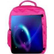 Snoogg Eco Friendly Canvas Neon Pattern Design Designer Backpack Rucksack School Travel Unisex Casual Canvas Bag Bookbag Satchel 5 L Backpack(Pink)