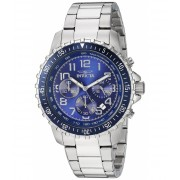 Invicta Watches Invicta Men's 6621 II Collection Chronograph Stainless Steel Blue Dial Watch BlueSilver