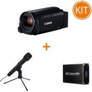 Kit Live Streaming Starter Canon HF R86 + Placa de Captura + Microfon USB