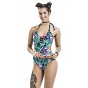 Fashion Victim Floraler Monokini Damen-Badeanzug S, M, L, XL, XXL, 3XL Damen