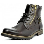 Bota Bruno MARC PHILLY Men´s Formal Classic Cap Toe Vintage Laced Up Side Zipper Military