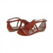 Sandale piele naturala dama - maro, s.Oliver - 5-28112-26-591-Brick