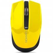 Mouse, CANYON CNS-CMSW5Y, Wireless, Yellow