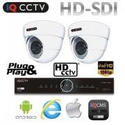Kamerový Set HD SDI - 2x 1080P kamera s 30m IR + HD SDI DVR