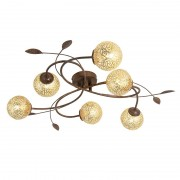 Paul Neuhaus Country Ceiling Lamp 6 Brown-Rust - Kreta