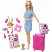 Papusa Barbie Calatorie Travel Doll and Travel Accessories