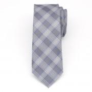 Férfi keskeny nyakkendő (minta 1269) 7974 -ban szürke szín dobókocka
