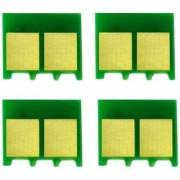 Green hp color laserjet 1025 refill chip 4 pcs Multi Color Toner (Black Magenta Cyan Yellow)