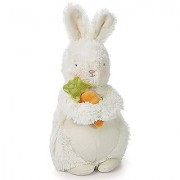 Bunnies By The Bay Bunches Plush Bunny with Carrot Warm White 10