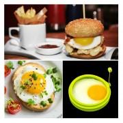 EY Anillo De Silicona Tortilla De Huevo Frito Shaper Huevos Molde Para Cocinar DesayunoVerde