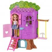 Mattel barbie la casa sull'albero di chelsea-con bambola inclusa-due piani e accessori, fpf83