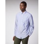 Ben Sherman Main Line Long Sleeve Dark Blue Oxford Shirt Medium Classic Navy