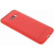 Rode Brushed TPU case voor de Samsung Galaxy S8 Plus