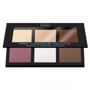 Paleta pentru conturarea fetei - Wibo Pro Contour Palette - Dark