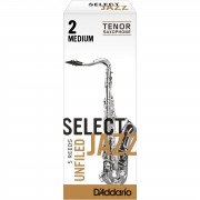 D'Addario Woodwinds Saxofón Tenor 2M Unfiled cajita con 5 cañas