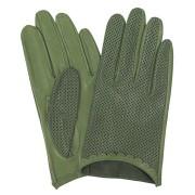 Manusi pentru condus de piele cu perforatii verde