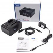 ER Disco Duro De 3,5 Pulgadas Base Caja USB3.0 Para PC Portátil -Negro