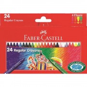 Creioane colorate cerate 24 culori/set FABER-CASTELL Clown