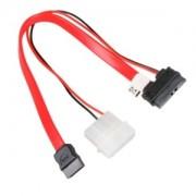 Cablu adaptor Akasa de la Slim-SATA la SATA, pentru unitati optice Slimline, 20cm, AK-CB050
