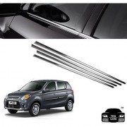 Trigcars Maruti Suzuki Alto 800 Car Window Lower Garnish Chrome