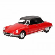 Welly Speelgoed Citroen DS19 rood autootje 1:36