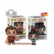 Set 2 Piezas Vanellope Y Ralph Hot Topic Funko Pop Pelicula Disney