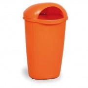 B2B Partner Venkovní odpadkový koš na sloupek dinova, oranžový
