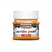 Pentart Matt narancs színű akril bázisú hobbi festék 50 ml