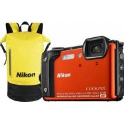 Aparat Foto Compact Nikon Coolpix W300 16MP Holiday Kit Portocaliu