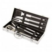 Set pentru gratar 5 ustensile in cutie aluminiu //PALISAD Camping