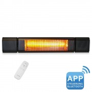 VASNER Appino BEATZZ Black Bluetooth InfrarotHeizstrahler LED Backlight Licht MusikLautsprecher