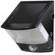 Napelemes LED falilámpa SOL 04 IP44 infravörös mozgásérzékelovel 4xLED 30lm Szinek Fekete