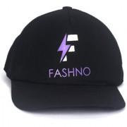 FASHNO Black Plain Cotton Caps