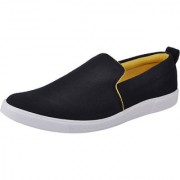 Fausto MenS Black Casual Loafers (FST 1075 BLACK)
