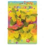 Geen Tafeldecoratie tafelkleed klemmen met gekleurde bloemen 4 stuks