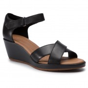 Сандали CLARKS - Un Plaza Cross 261423094 Black Leather