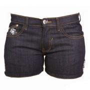 Pantaloni scurți femei BLACK HEART - CROSS SKULL - DENIM - 013-0002-DNM